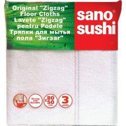 Laveta Zigzag Pentru Podele Sano Sushi 50x80 3buc 2021 sanito.ro
