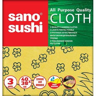 Lavete Sano Sushi Cloth 40x38 Cm 3 Buc. / Pachet 2021 sanito.ro