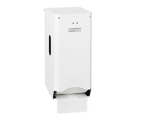 Dispenser Hartie Igienica 2 Role Normale Suprapuse Otel Alb Mediclinics sanito.ro