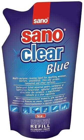 Sano Clear Blue Refill 750ml Detergent Geam 2021 sanito.ro