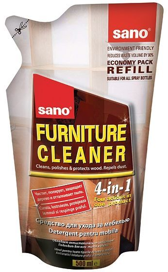 Sano Furniture Refill 500ml Detergent Mobilier Formica Si Metal 2021 sanito.ro