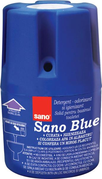 Sano Blue Odorizant Bazin Wc 150g sanito.ro