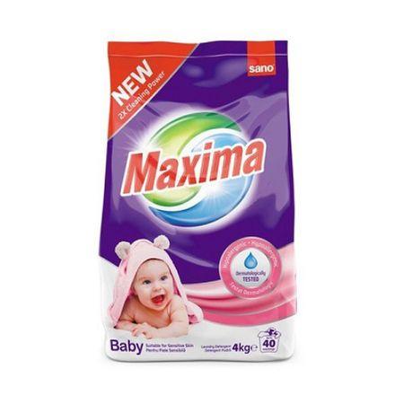 Detergent Pudra Sano Maxima Baby 4kg (40 Utilizari) sanito.ro