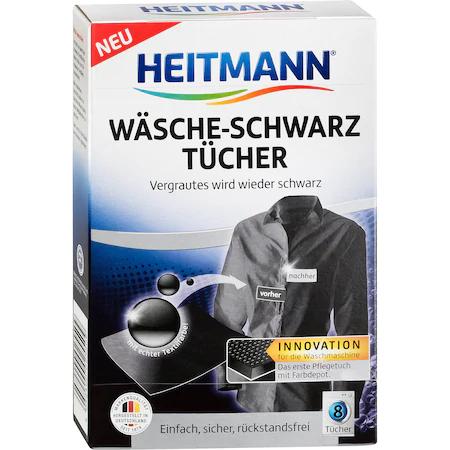 Heitmann Servetele Pentru Revigorarea Culorii Negre 8buc sanito.ro