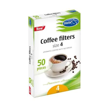 Stella Filtru Cafea Nr.4 50/Set sanito.ro