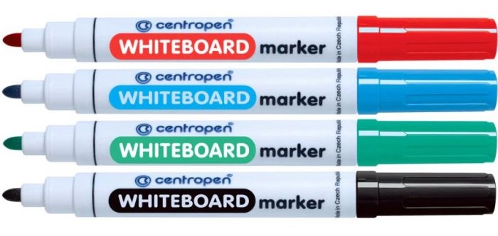 Whiteboard Marker Centropen 8559 - 4 Culori/Set sanito.ro