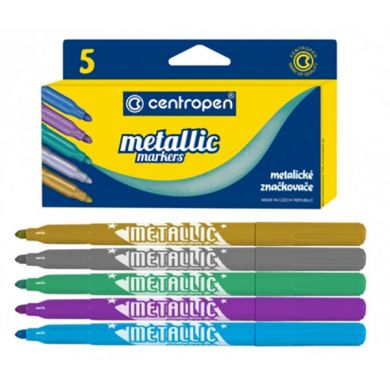 Marker Centropen 8690 Metallic - 5 Culori/Set sanito.ro