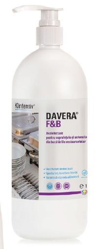 Davera F&Amp;B 1l - Dezinfectant Pentru Suprafete Rtu Pentru Restaurante Cantine Si Alte Locuri Publice De Servire A Mancarii 2021 sanito.ro