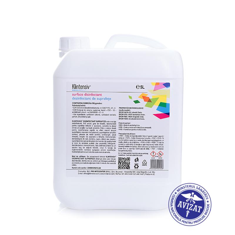 Klintensiv 5 L Dezinfectant Bactericid Si Virucid Pentru Suprafete Gata De Utilizare 2021 sanito.ro