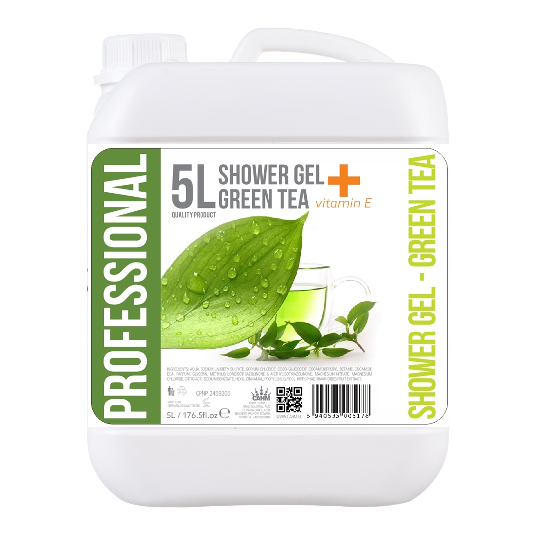 Gel De Dus 5l- Green Tea + Vitamina E 2021 sanito.ro