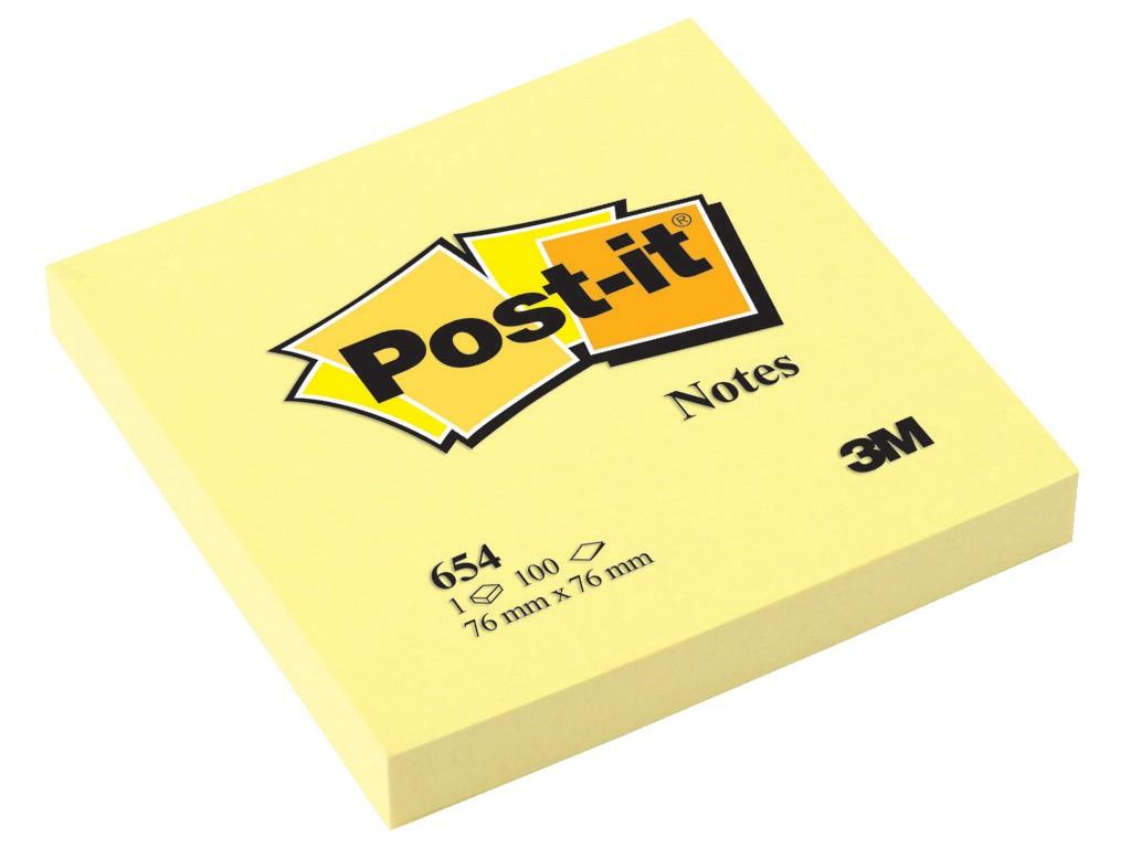 Notes Adeziv Post-It® Canary Yellow™ 76 X 76 Mm 2021 sanito.ro