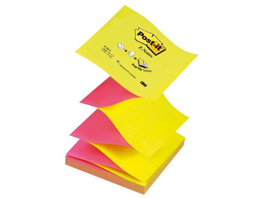 "Notes Adeziv Post-It® ""Z"" Neon Bicolor 2021 sanito.ro"