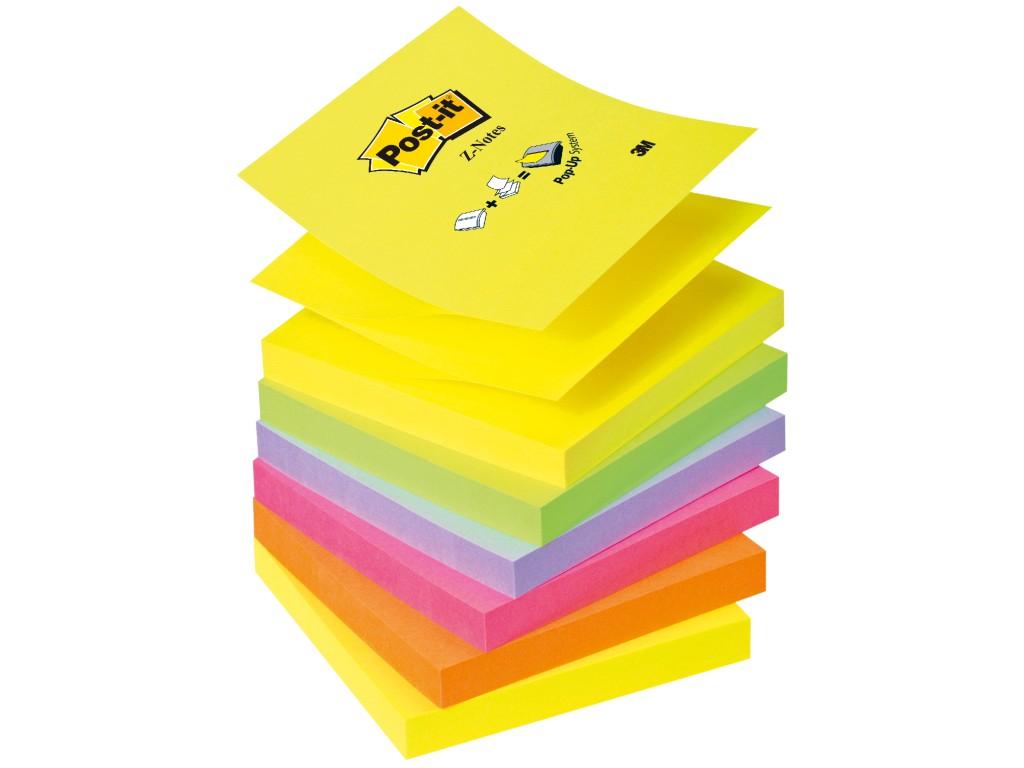 """Notes Adeziv Post-It® """"Z"""" Neon Unicolor 2021 sanito.ro"""