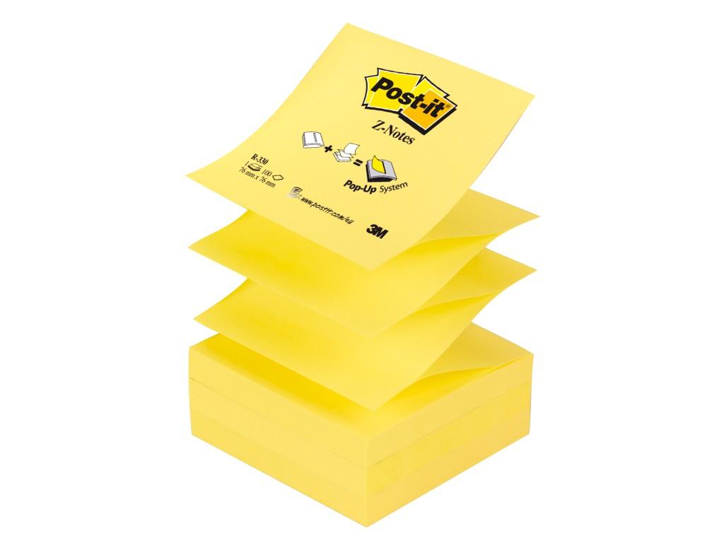 """Notes Adeziv Post-It® Canary Yellow™ """"Z"""" 2021 sanito.ro"""