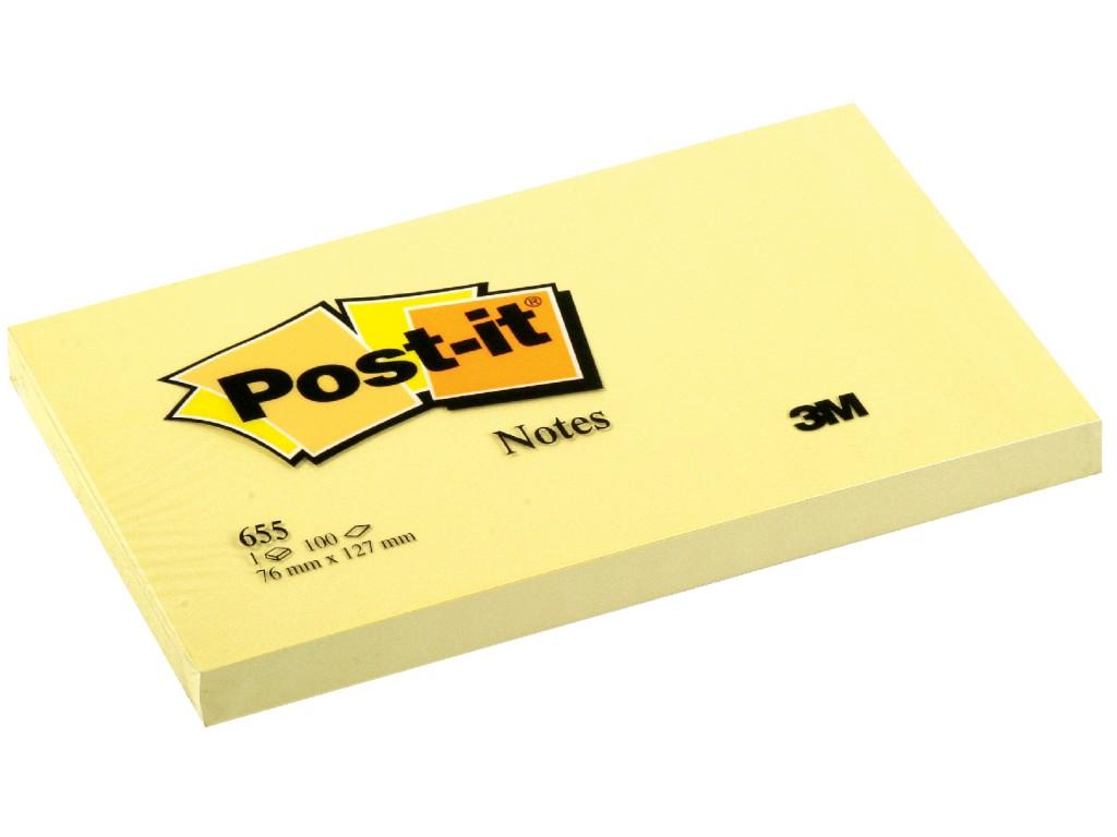 Notes Adeziv Post-It® Canary Yellow™ 76 X 127 Mm 2021 sanito.ro