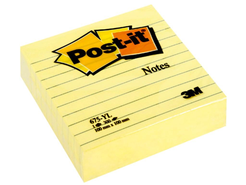 Notes Adeziv Post-It® Canary Yellow™ Liniat 2021 sanito.ro