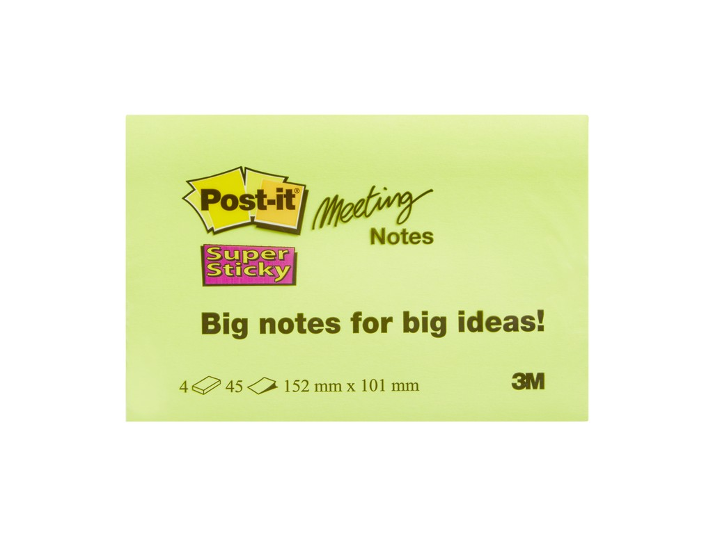Notes Adeziv Post-It® Super Sticky™ 152 X 101 Mm 2021 sanito.ro
