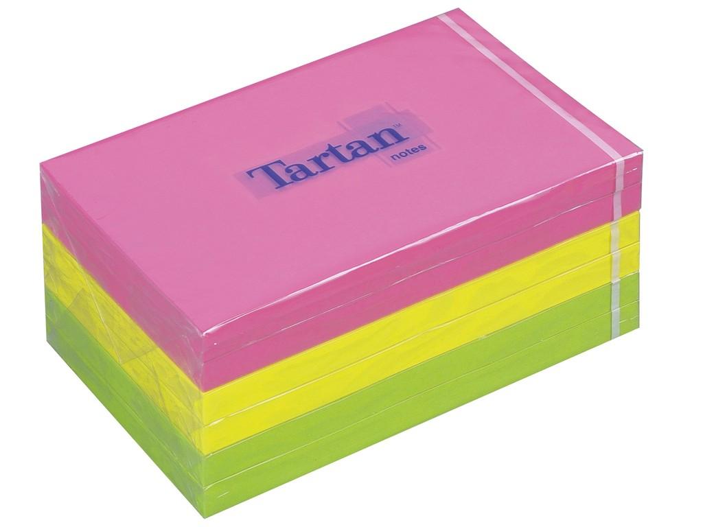 Notes Adeziv Tartan Neon 76 X 127 Mm 2021 sanito.ro