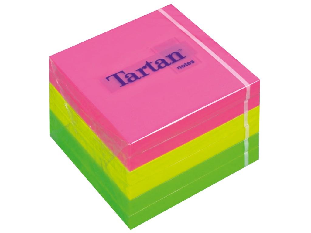 Notes Adeziv Tartan Neon 76 X 76 Mm 2021 sanito.ro