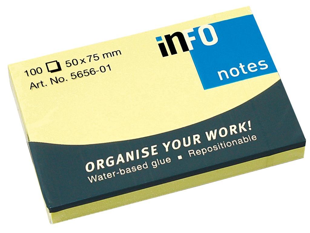 Notes Adeziv Yellow 50 X 75 Mm 2021 sanito.ro