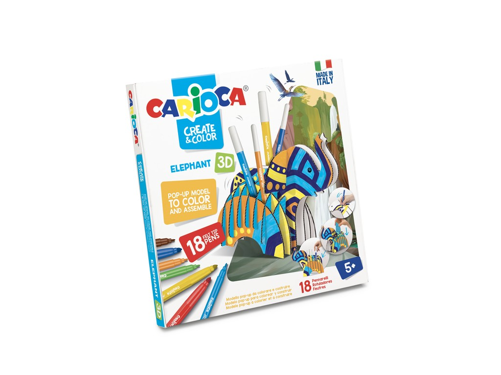 Set Creativ Create & Color Carioca Elefant 3d sanito.ro