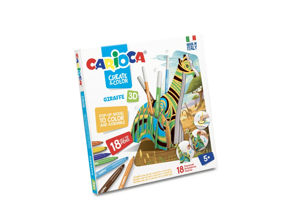 Set Creativ Create & Color Carioca Girafa 3d sanito.ro