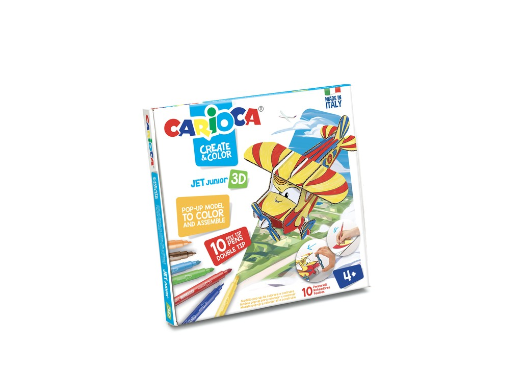 Set Creativ Create & Color Carioca Jet Junior 3d sanito.ro
