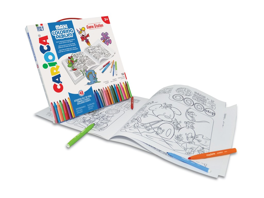 Set Creativ Maxi Coloring Album Game Station sanito.ro