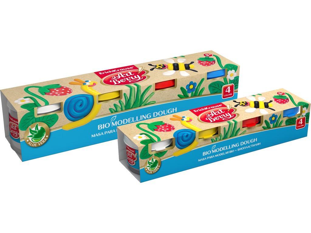 Plastilina Artberry Bio Cu Aloe Vera 4x35g + Cutit Modelaj 2021 sanito.ro