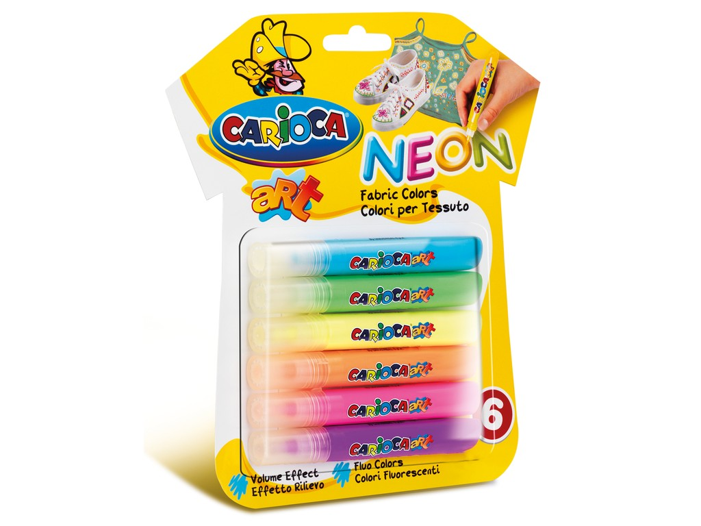 Carioca Fabric Art Neon 6/Set sanito.ro