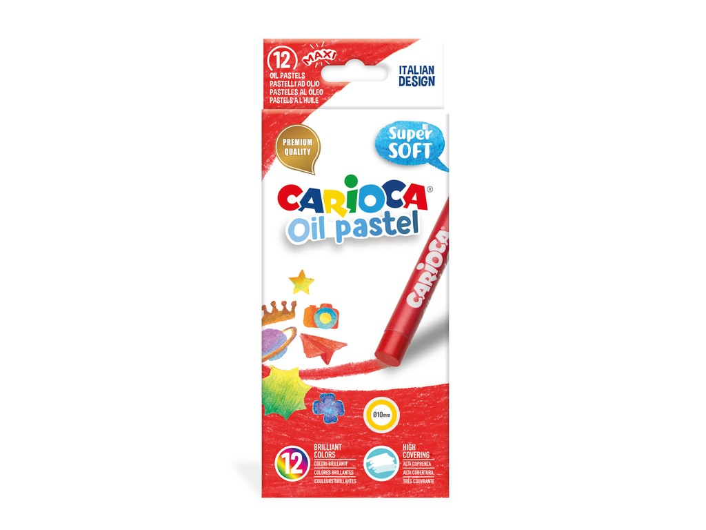 Set Creioane Cerate Carioca Oil Pastel Maxi 12 Buc./cutie 2021 sanito.ro