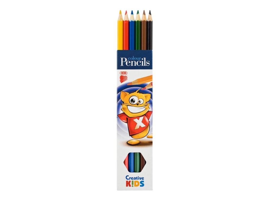 Creioane Color Creative Kids 6/Set sanito.ro