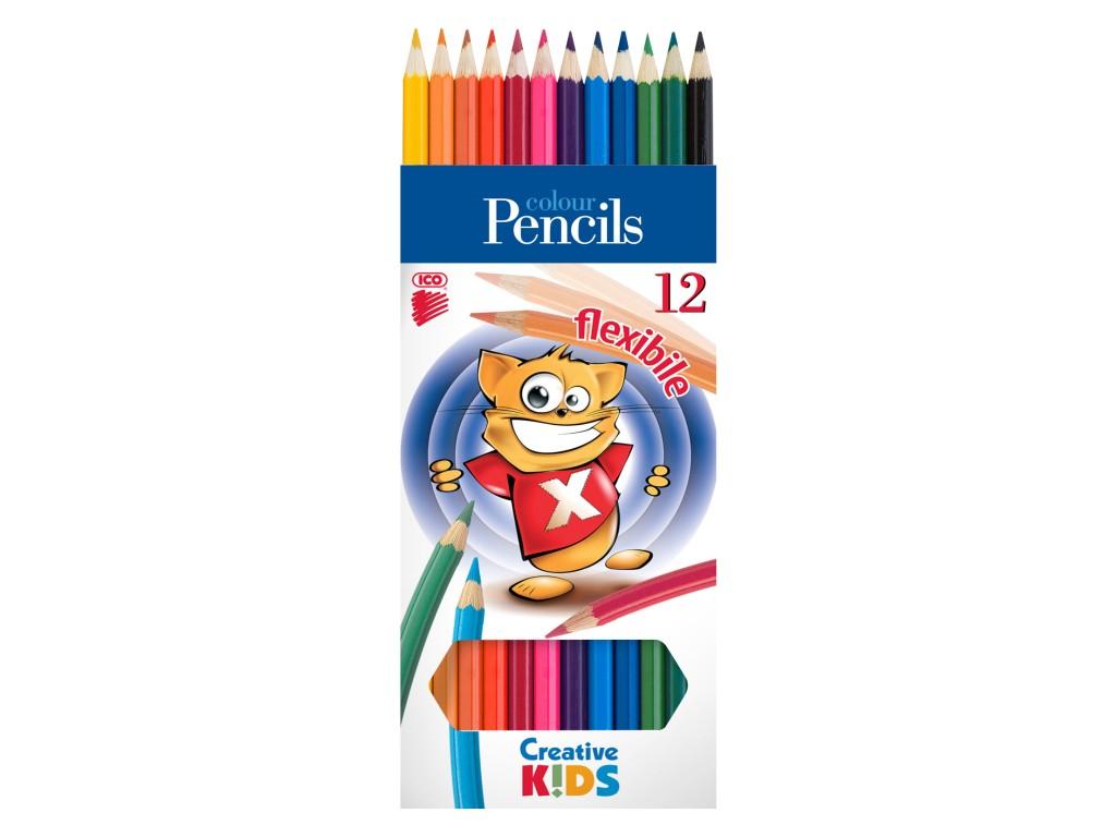 Creioane Color Flexibile Creative Kids sanito.ro