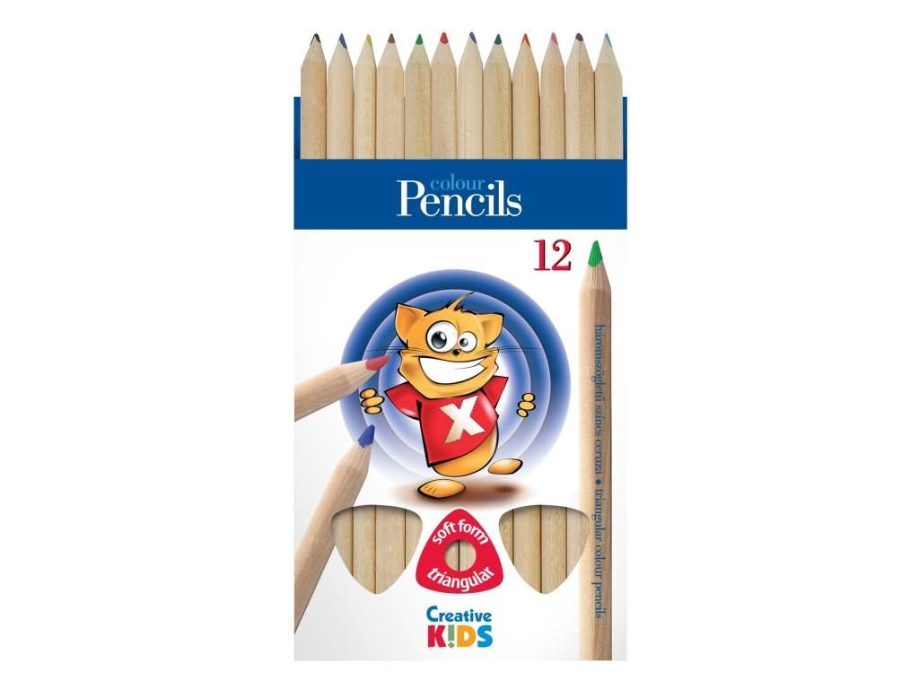 Creioane Color Triunghiulare Creative Kids sanito.ro