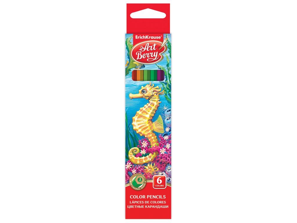 Creioane Color Hexagonale Artberry 6/Set sanito.ro