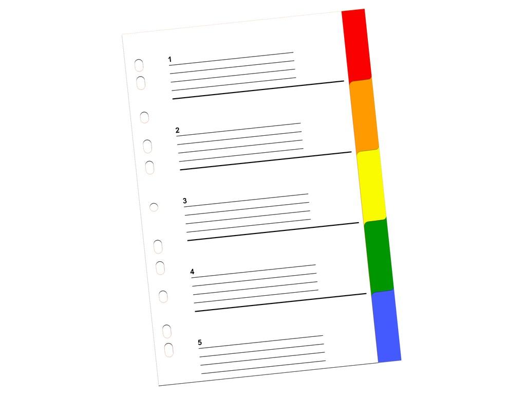 Index Color Din Plastic 5 Buc 2021 sanito.ro