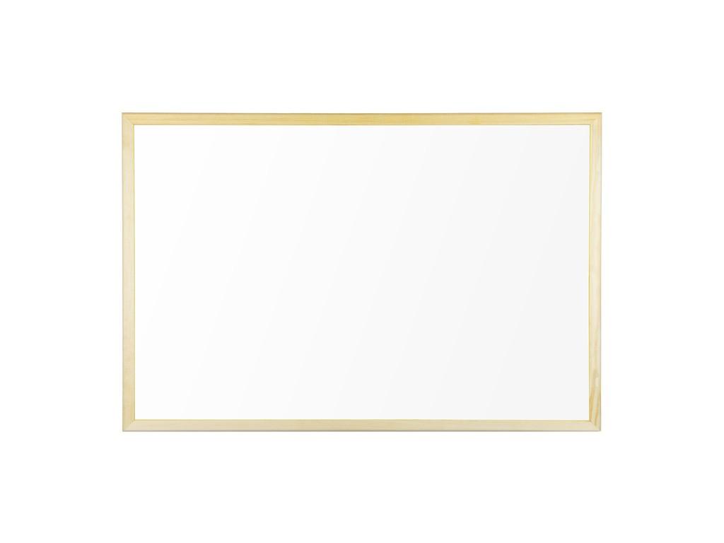 Whiteboard Magnetic Cu Rama Din Lemn 60 X 40 Cm Bi-Silque 2021 sanito.ro
