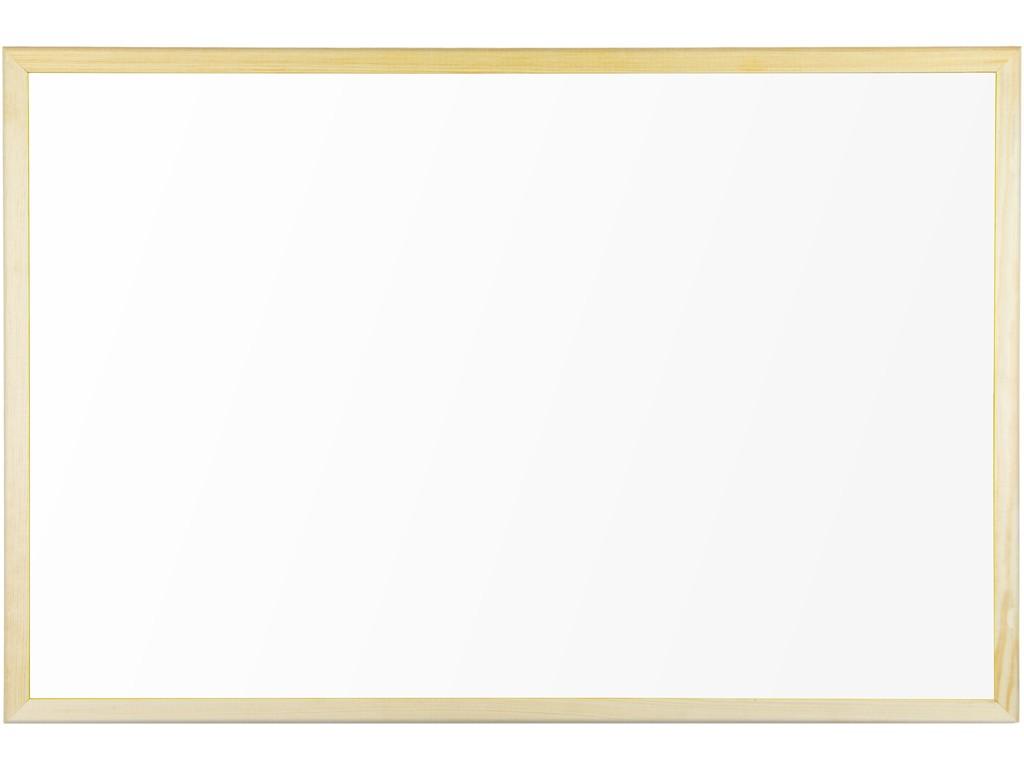 Whiteboard Magnetic Cu Rama Din Lemn 80 X 60 Cm Bi-Silque 2021 sanito.ro
