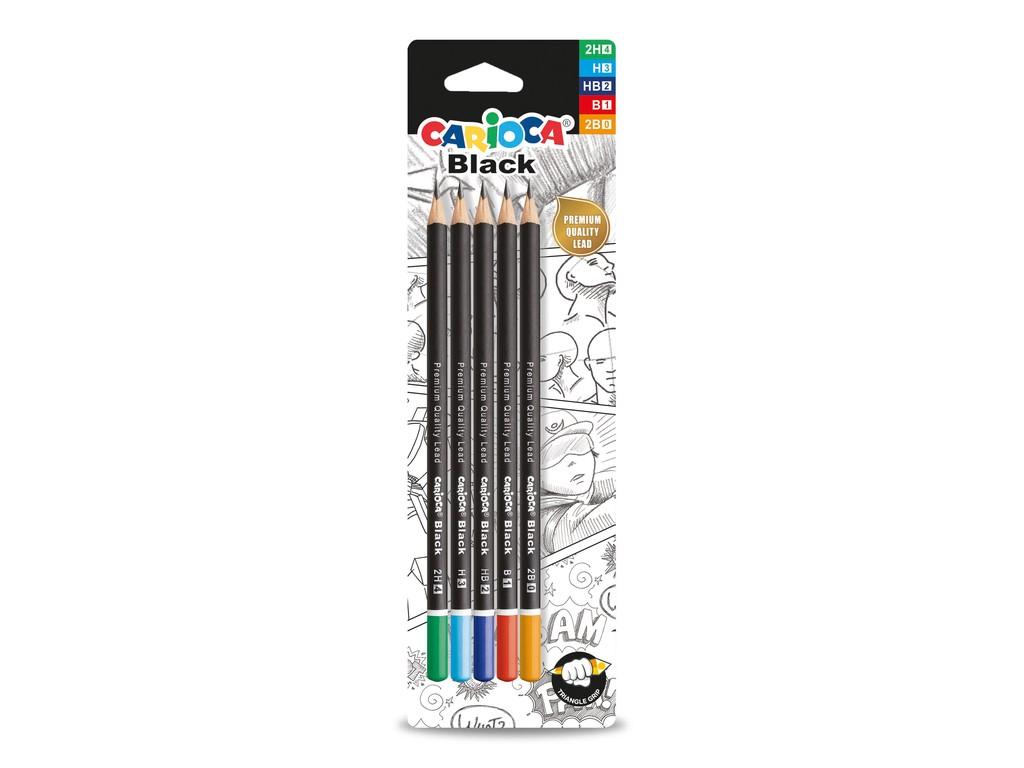 Set Creioane Grafit Carioca Black sanito.ro