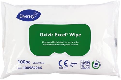 Servetele Dezinfectante 100 Buc/Set Oxivir Excel Wipe Diversey 2021 sanito.ro