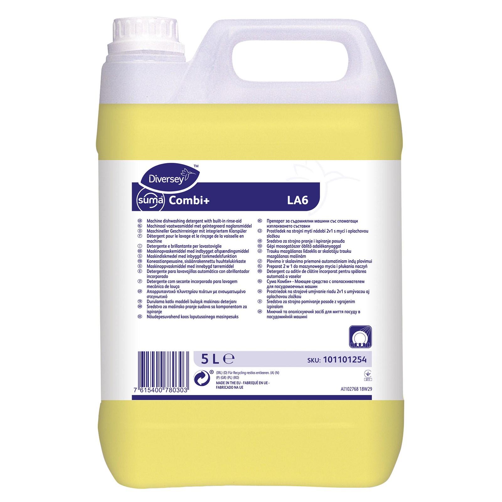 Detergent Si Aditiv Clatire Masina De Spalat Vase Suma Combi La6 Diversey 5l 2021 sanito.ro