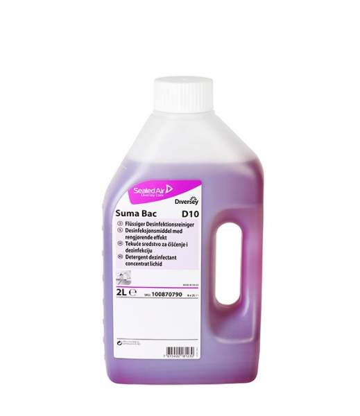 Detergent Dezinfectant Bucatarie Suma Bac D10 Diversey 2l sanito.ro