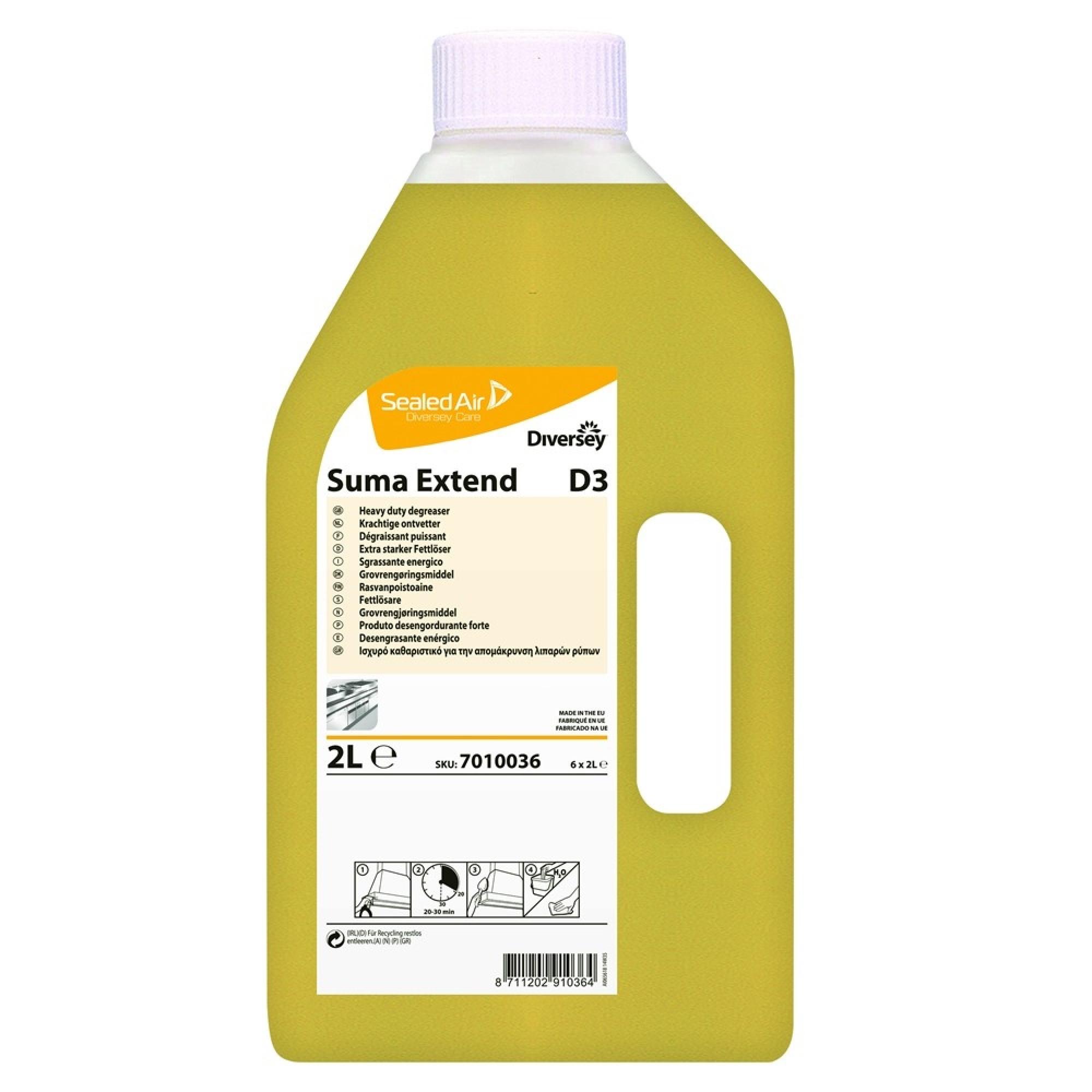 Detergent Degresant Bucatarie Suma Extend D3 Diversey 2l sanito.ro