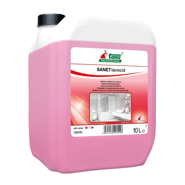 Detergent Concentrat Spatii Sanitare 10 L - Tana Sanet Lavocid sanito.ro