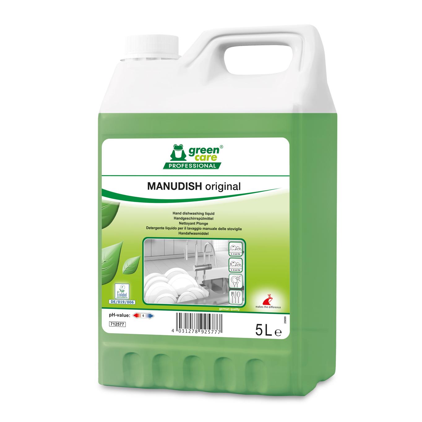 Detergent Ecologic Pentru Vase Manudish Original 5l 2021 sanito.ro