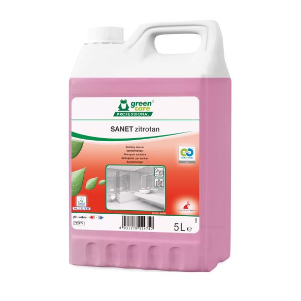 Detergent Ecologic Concentrat Spatii Sanitare Sanet Zitrotan 5l sanito.ro