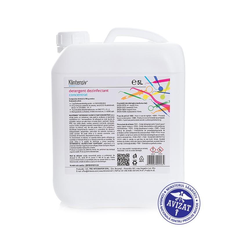 Klintensiv® - Detergent Dezinfectant Concentrat 5000 Ml sanito.ro